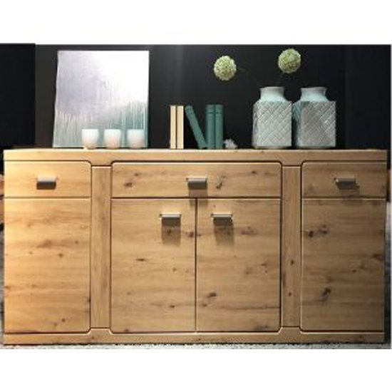 Chelsea Sideboard In Artisan Oak With 4 Doors And 3 Drawers