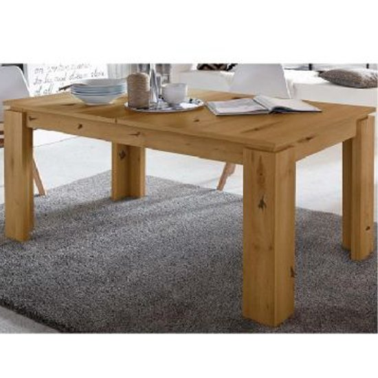 Chelsea Wooden Extending Dining Table In Artisan Oak_1