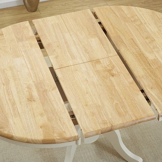 Chartin Wooden Extending Dining Table In Oak And Cream_3