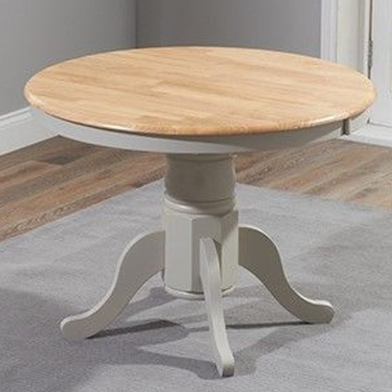 Chartin Wooden Extending Dining Table In Oak And Grey_2