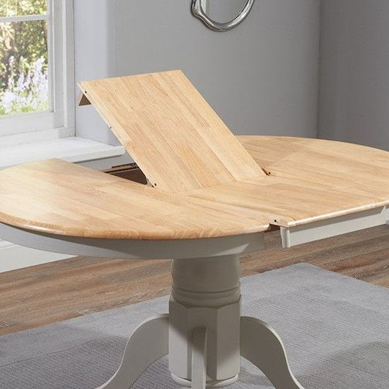 Chartin Wooden Extending Dining Table In Oak And Grey_4