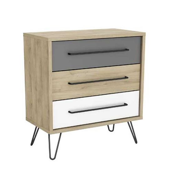 Chervil Chest Of Drawers In Kronberg Oak And Pearl White