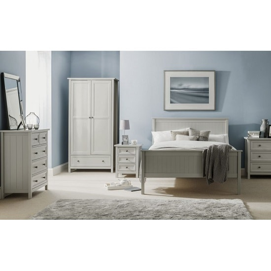 Cheshire Bedside Cabinet In Dove Grey Lacquer With 3 Drawers_2