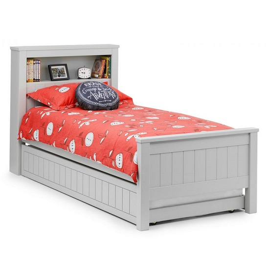 Cheshire Bookcase Bed With Underbed In Dove Grey Lacquer_3
