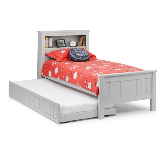 Cheshire Bookcase Bed With Underbed In Dove Grey Lacquer_4