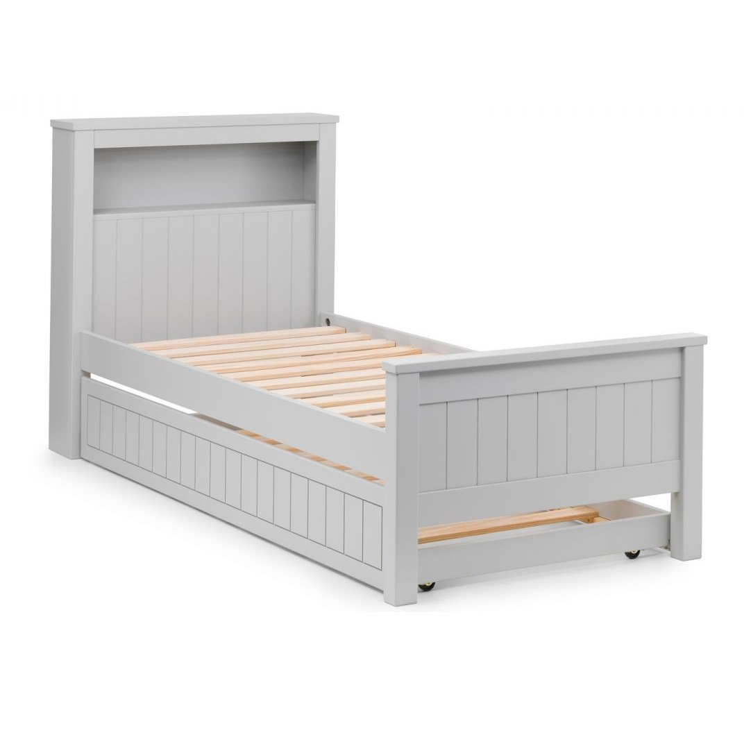 Cheshire Bookcase Bed With Underbed In Dove Grey Lacquer_6