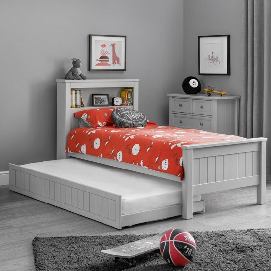 Cheshire Bookcase Bed With Underbed In Dove Grey Lacquer_2