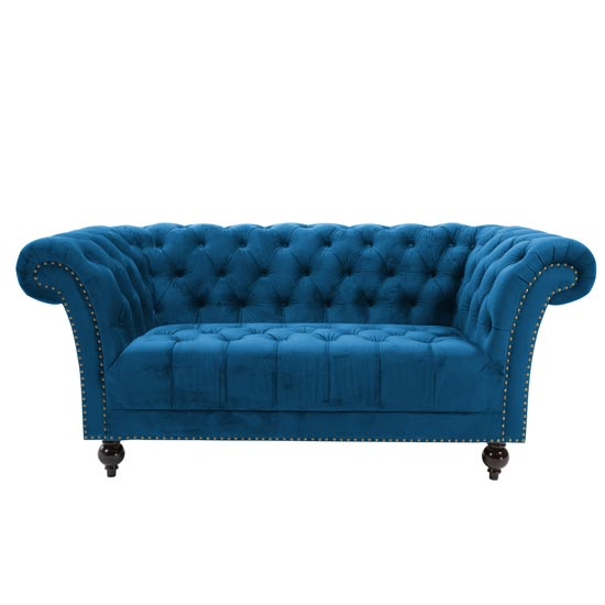 Chester Fabric 2 Seater Sofa In Midnight Blue_2