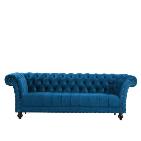 Chester Fabric 3 Seater Sofa In Midnight Blue_2