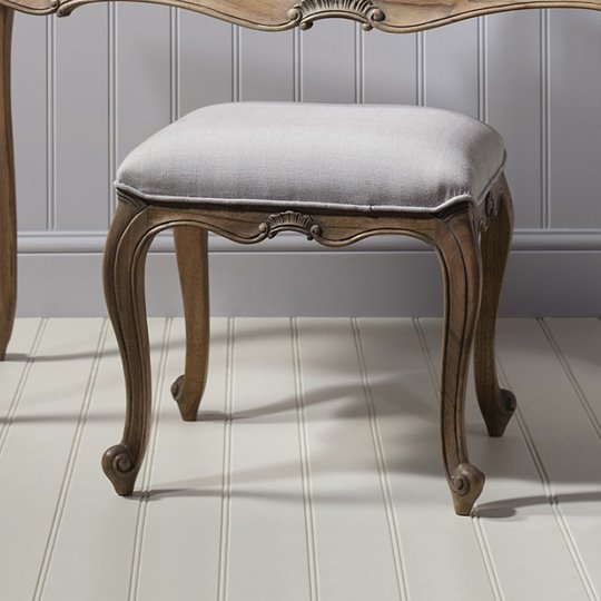 Chic Dressing Stool In Weathered Finish_1