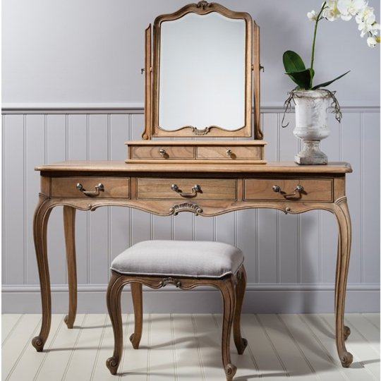 Chic Wooden Dressing Table Only In Weathered