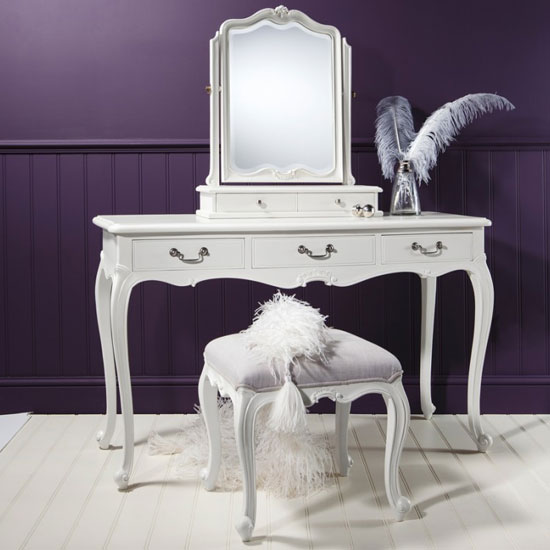 Chic Wooden Dressing Table Only In Vanilla White