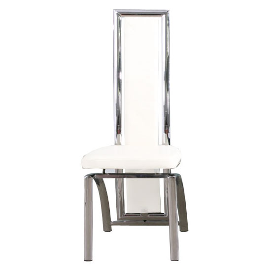 White leather chrome dining chairs winda 7 furniture for White chrome dining chairs