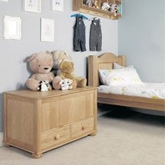Childrens Toy Box for storage In wood & high gloss
