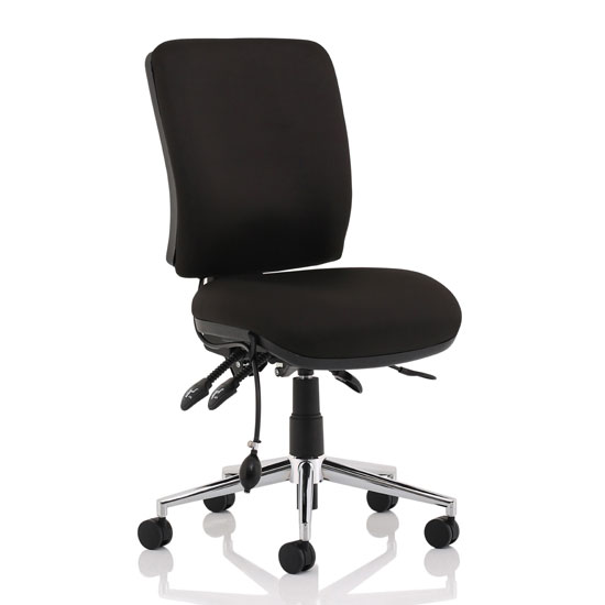 Chiro Fabric Medium Back Office Chair In Black No Arms