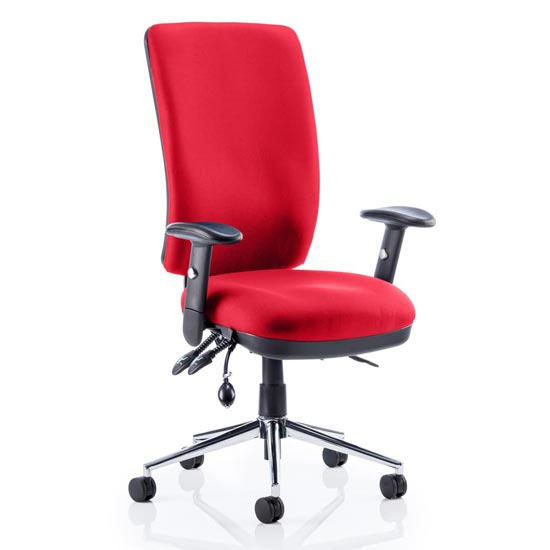 Chiro High Back Office Chair In Bergamot Cherry With Arms