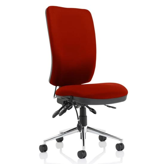 Chiro High Back Office Chair In Ginseng Chilli No Arms