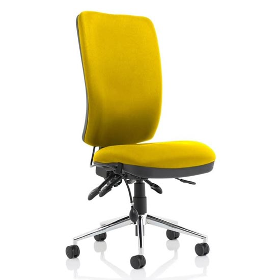 View Chiro high back office chair in senna yellow no arms