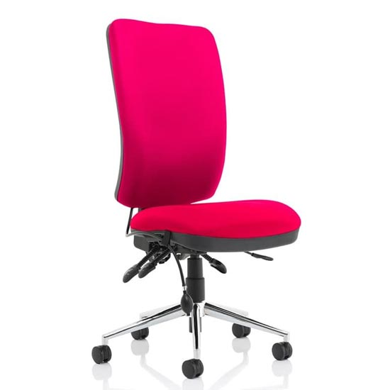 Chiro High Back Office Chair In Tabasco Red No Arms_1