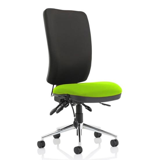 Chiro High Black Back Office Chair In Myrrh Green No Arms
