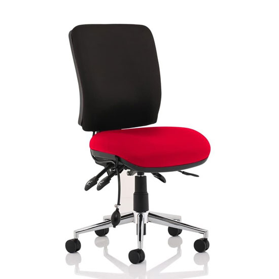 Chiro Medium Back Office Chair With Bergamot Cherry Seat No Arms
