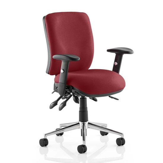 Chiro Medium Back Office Chair In Ginseng Chilli With Arms
