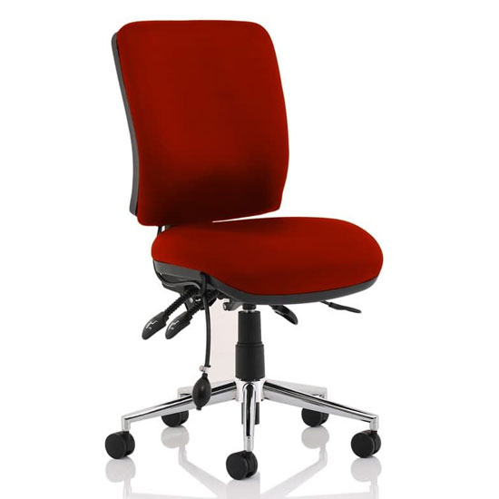 Chiro Medium Back Office Chair In Ginseng Chilli No Arms