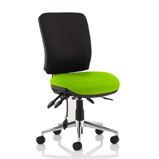 Chiro Medium Back Office Chair With Myrrh Green Seat No Arms