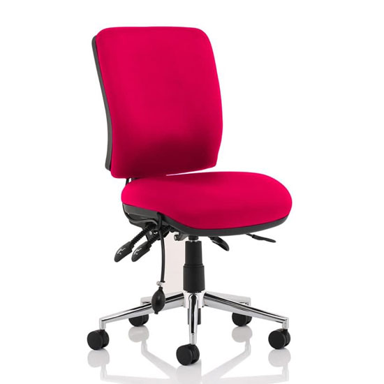 Chiro Medium Back Office Chair In Tabasco Red No Arms