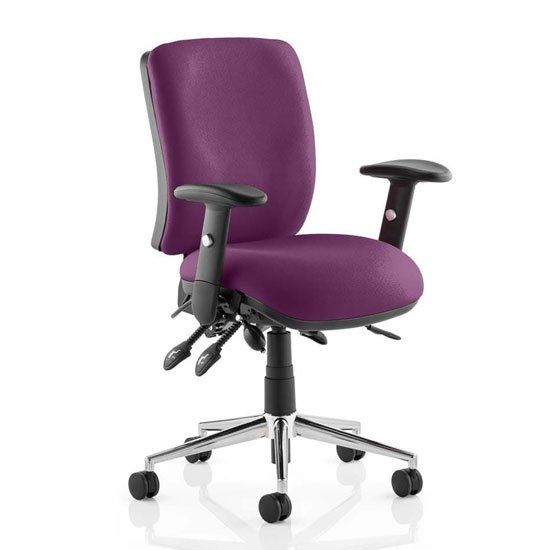 Chiro Medium Back Office Chair In Tansy Purple With Arms_1
