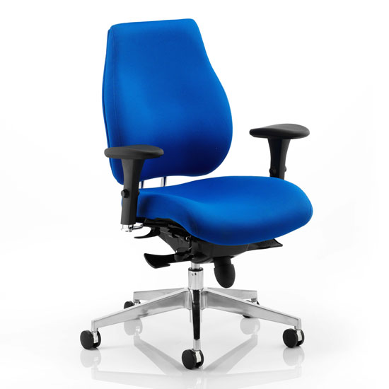 Chiro Plus Ergo Office Chair In Blue With Arms