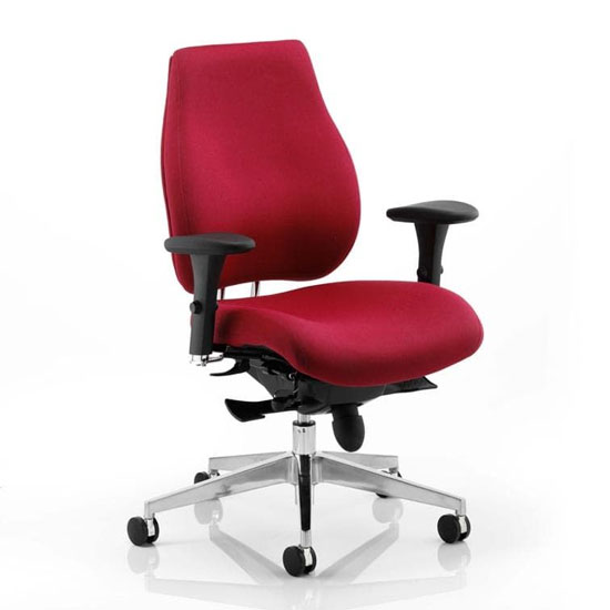 Chiro Plus Ergo Office Chair In Wine With Arms