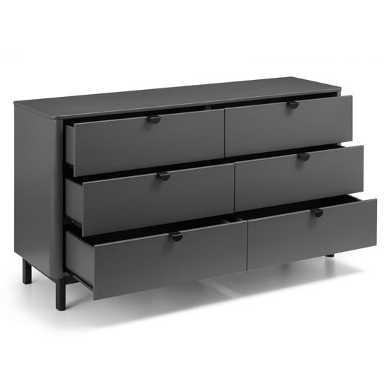Chloe Wooden Chest Of Drawers In Strom Grey With 6 Drawers_4