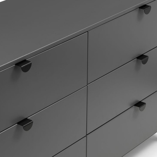 Chloe Wooden Chest Of Drawers In Strom Grey With 6 Drawers_6