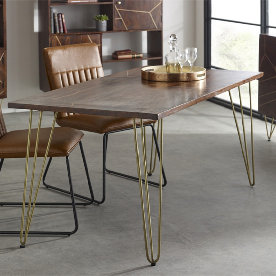 Chort Wooden Dining Table In Dark Walnut_1