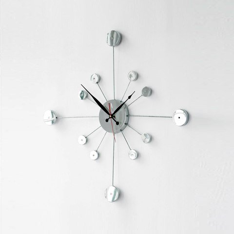 chrome wall clocks 2200320 - Decorating Living Room Ideas On A Budget