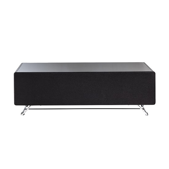 Claude Glass TV Stand In Black High Gloss With Steel Frame_5