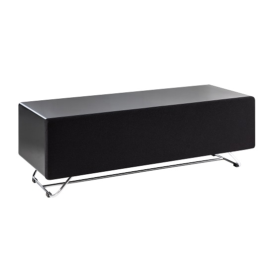 Claude Glass TV Stand In Black High Gloss With Steel Frame_3