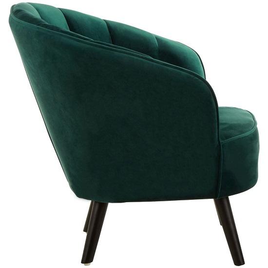 Ciaz Tub Style Velvet Upholstered Bedroom Chair In Green ...