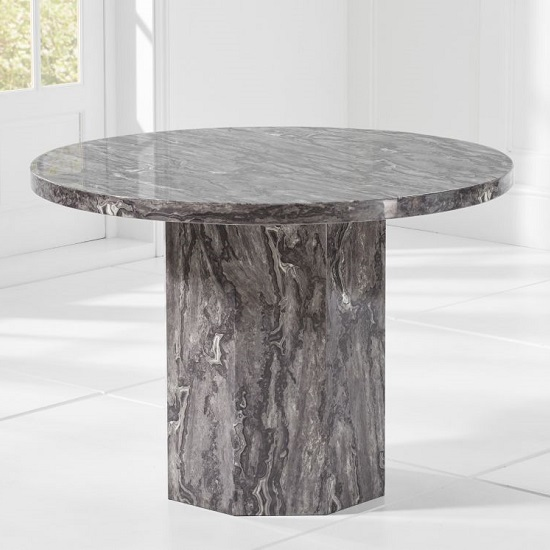 Cierra Grey Marble Effect Dining Table With 4 Allie Dining Chair_2