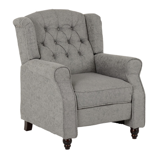 View Citaly fabric reclining chair in grey