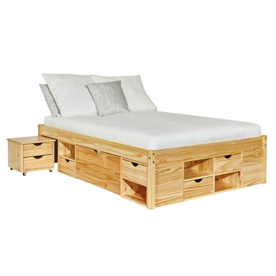 Claas FSC Wooden Functional Double Bed In Natural Oak_2