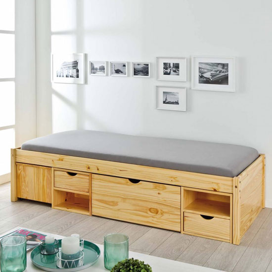 Claas FSC Wooden Functional Single Bed In Natural Oak