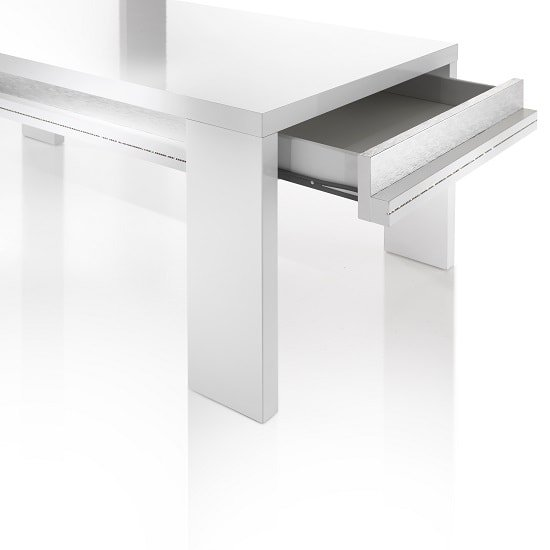 Claire Coffee Table In White High Gloss And Steel Effect_4