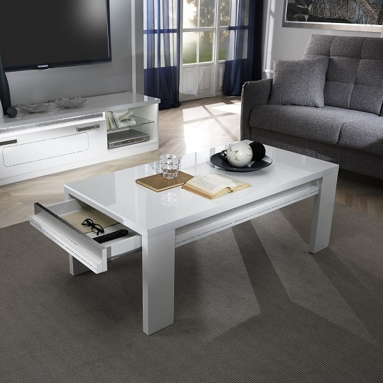 Claire Coffee Table In White High Gloss And Steel Effect_2