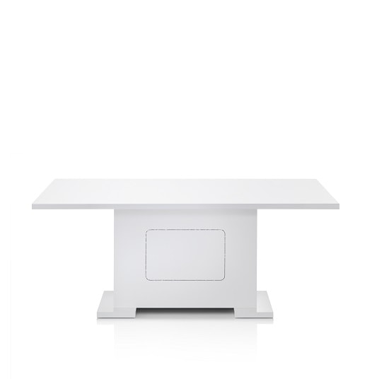 Claire Large Dining Table Rectangular In White High Gloss_2
