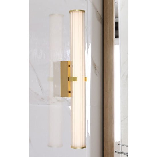 Clamp LED Large Wall Light In Gold