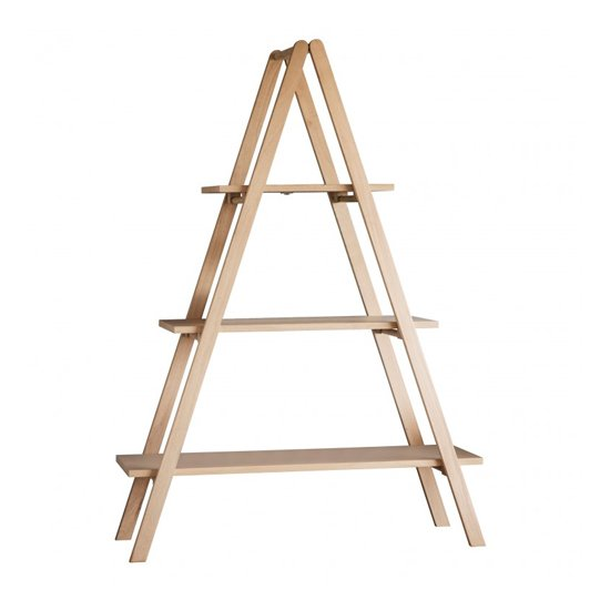 Clapham Wooden A Shaped Frame Shelving Unit In Oak
