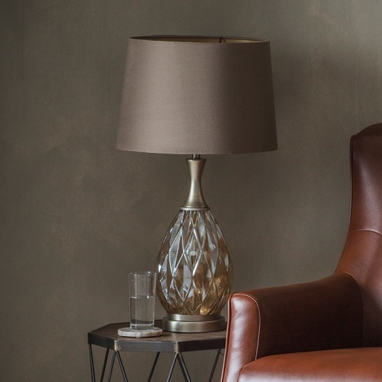 Clarence Table Lamp In Champagne Finish