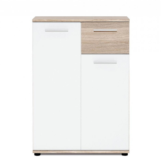 Clarion Compact Sideboard In Wild Oak Effect And White_3